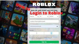 How to login to Roblox