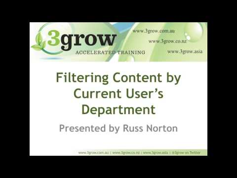Filter SharePoint List or Library by Current User's Department