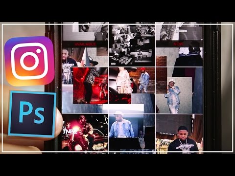 How to Create a collage theme Instagram Feed using Photoshop (DJ Mustard / Asap Rocky tutorial )