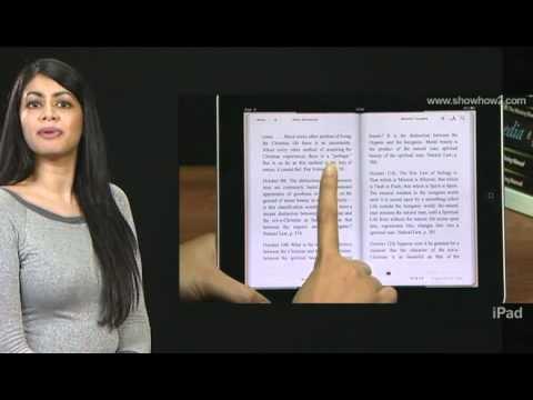 iPad - How to read books