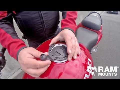 RAM® Mounts Motorcycle Gas Tank Mount   Overview & Installation