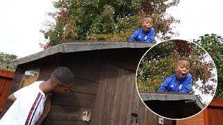 HIDE AND SEEK AROUND THE HOUSE! *He Almost Fell!