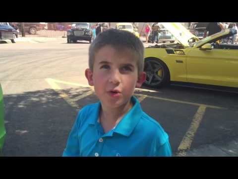 Ben the Car Kid visits the 2016 Canton Area Car Show