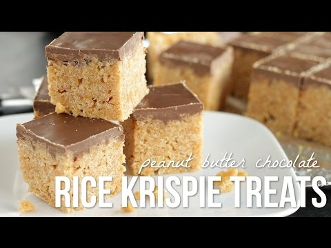 Peanut Butter Rice Krispie Treats!! PB Crispy Bar Recipe
