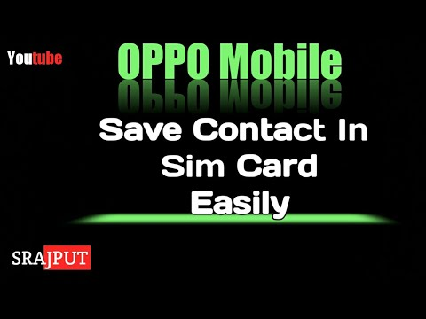 How to save contacts in sim card हिंदी में  OPPO mobile