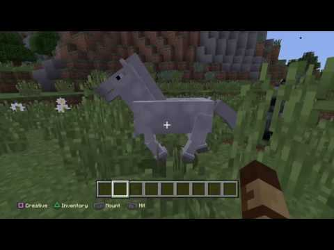 How to tame a HORSE!!! Minecraft PS4 Edition