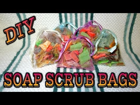 DIY HOW TO MAKE SOAP SCRUBBY BAGS