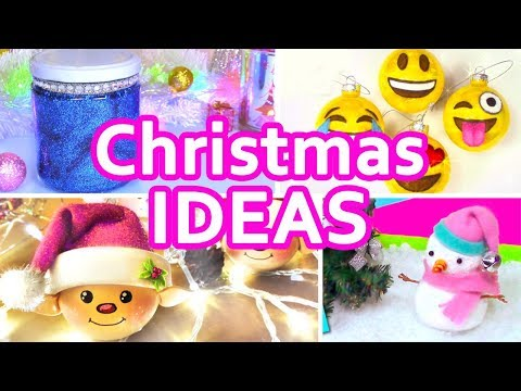 DIY CHRISTMAS DECORATIONS AND MORE IDEAS!