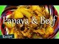 Green Papaya and Beef Curry