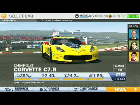 Corvette C7.R Championship - Tier 7 - de Spa Francorchamps - Elimination - Real Racing 3