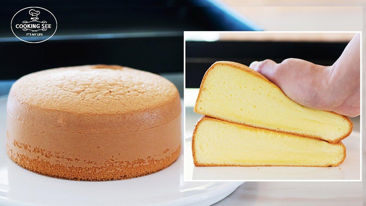(케이크 기본) 폭신한 제누와즈 만들기, 케이크 시트, 스폰지 케이크 만들기, Vanilla Sponge Cake, Cake sheet [홈베이킹], 쿠킹씨 cooking see