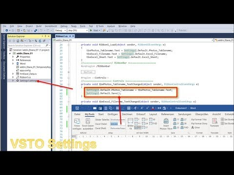 Read Write Save Settings and Value in Office Addin VSTO
