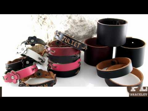Personalized Gift Leather Bracelets