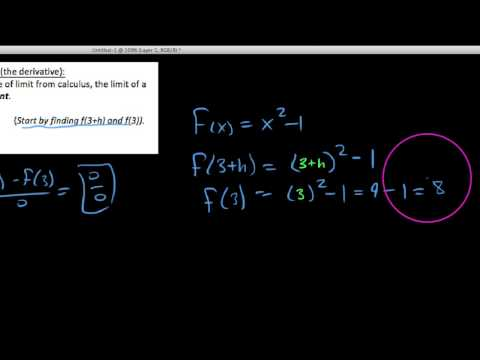 HPC 12.2.4  Limit of a difference quotient example