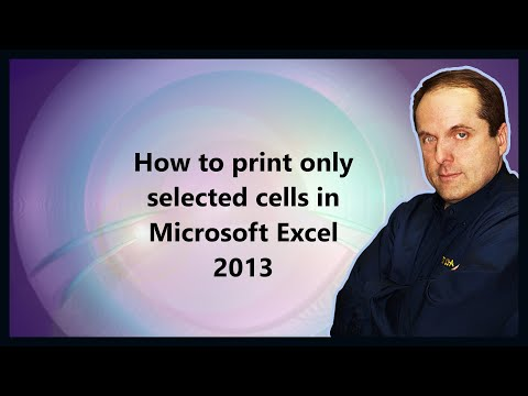 How to print only selected cells in Microsoft Excel 2013