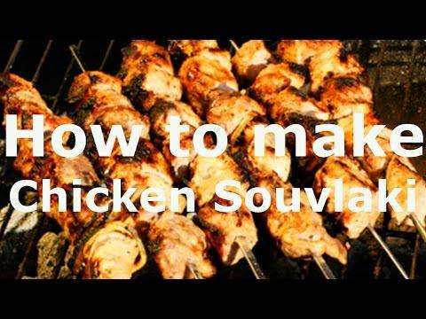 🍴 Chicken Souvlaki and  Greek Lemon Potatoes RECIPE ,How to make Shish-Kebab or Skewers Greek Food