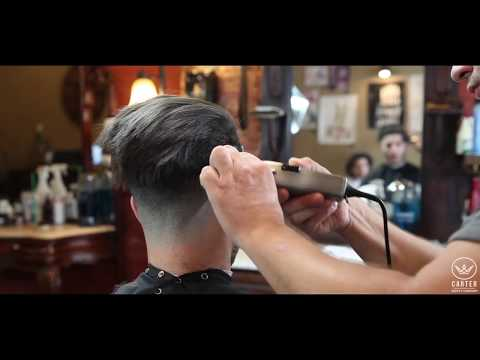 Disconnected Slicked Back Undercut  Clean Fade