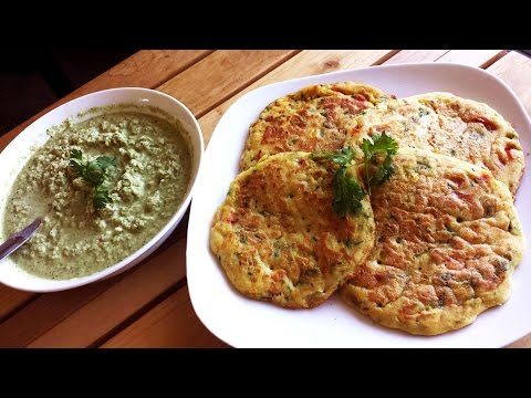 Instant Rice Flour Uthappam/Pancakes and Coconut-Peanut Chutney| Breakfast Recipe