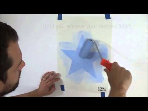 Basic Stencilling - Using a paint roller
