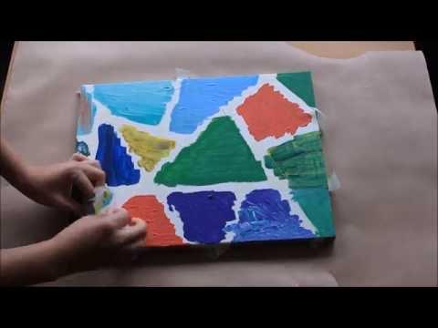 Canvas painting, geometric home decor