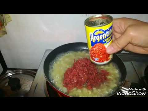 How to cook Corned beef ginisa