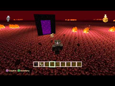 How to make nether portal and beacon in Minecraft Ps4