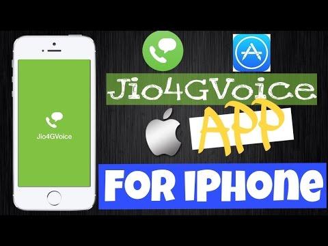 Jio Calling From iPhone 5s , 5c & 5 : Jio4GVoice App