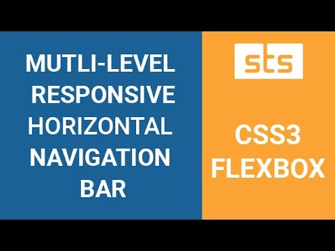 CSS3 Flexbox Responsive Horizontal Navigation Menu Bar - Flexbox Multilevel Nested Submenu