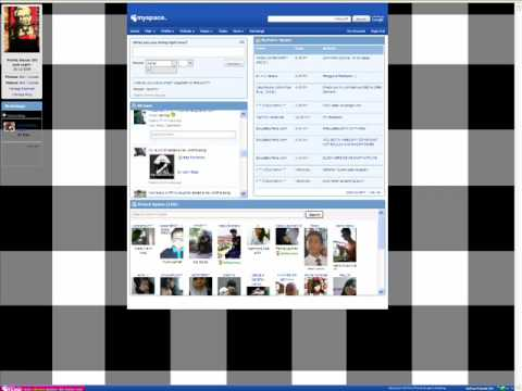 How to change Myspace homepage background(mozilla Firefox)