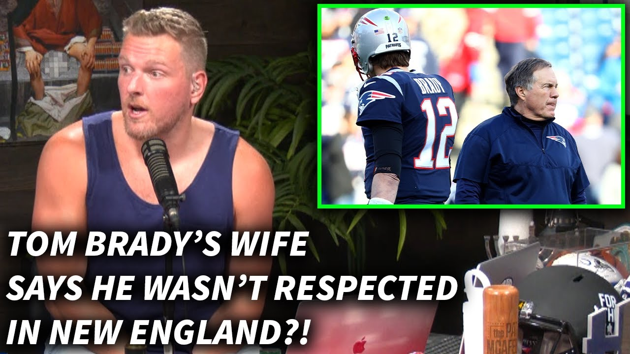 Pat McAfee Reacts To Tom Brady's Wife Saying He Was Disrespected, Book About The Patriots' Dynasty