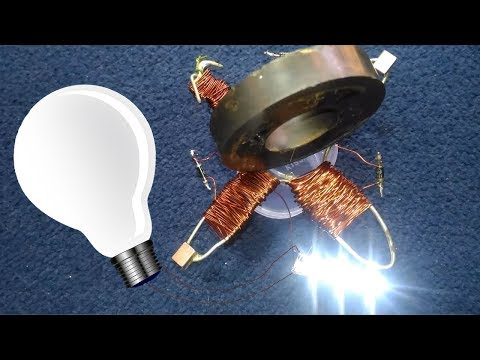 Free Energy Light Bulb Work by Magnet - How to make step by step at home
