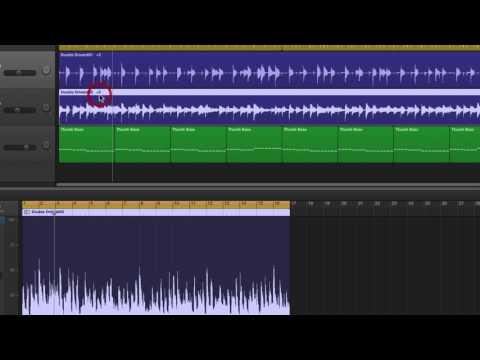 Garageband transposing audio tracks & song