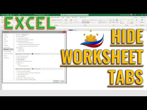 Excel Hiding Worksheet Tabs
