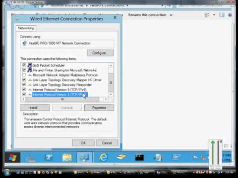 How to change to a Dynamic IP address in Microsoft Windows 8