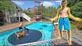 WE MADE AN UNDERWATER TRAMPOLINE PARK!!