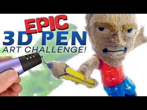 EPIC 3D PEN ART CHALLENGE!