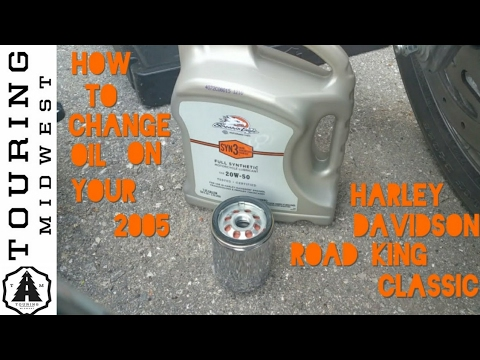 How to change oil on 2005 Harley Davidson Road King Classic