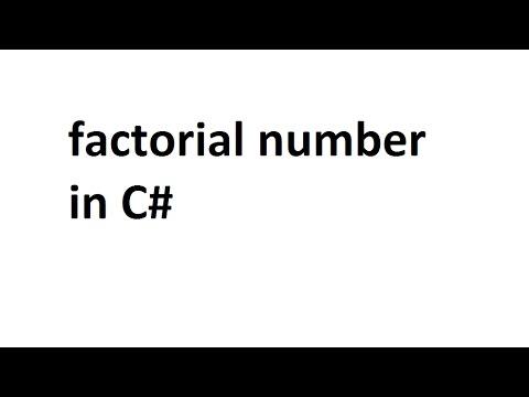 factorial number in C#