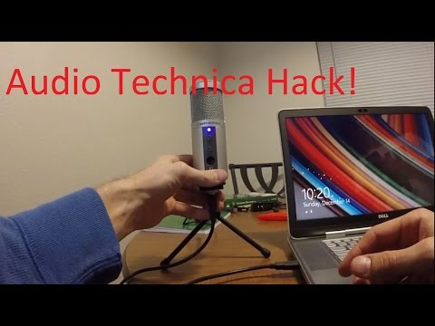 Audio-Technica Mic Disassembly and Power Light Mod