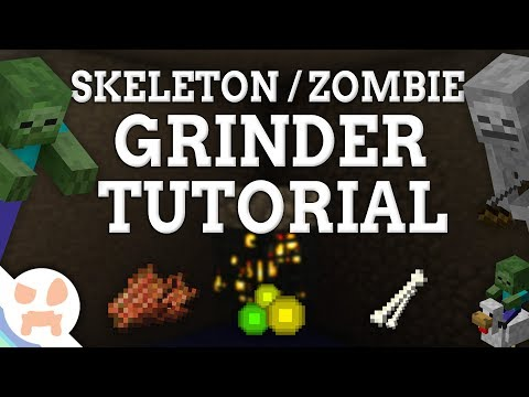EASY 1.12.2 Skeleton / Zombie Grinder Tutorial | ALL Versions , XP & Loot