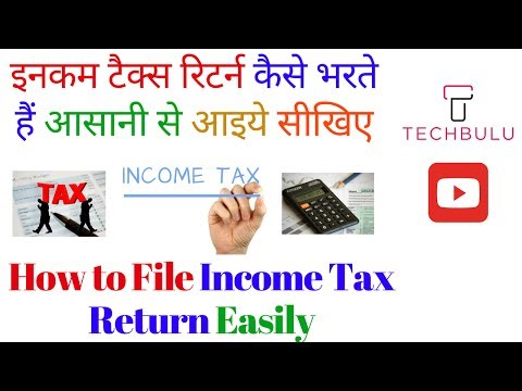How to File Your Income Tax Return - Step by Step - Live Demo - Explained - In Hindi