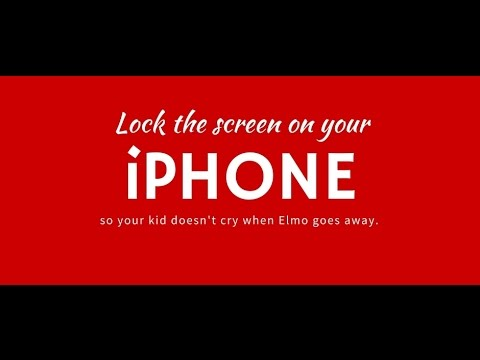 Lock the Screen on Your iPhone (so your kid doesn't cry when Elmo goes away)