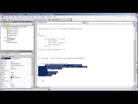 Web Scraper VBA Application1.14-How to read the values of Elements by Tag Name