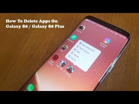 How To Delete / Uninstall Apps On Galaxy S8 / Galaxy S8 Plus - Fliptroniks.com