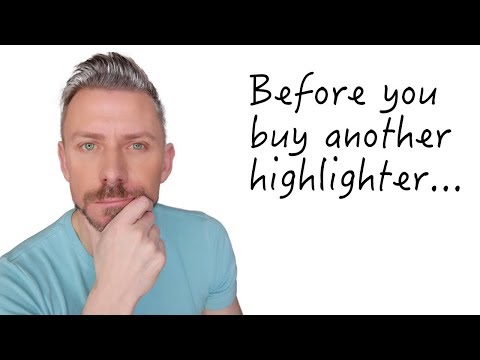 DON'T BUY ANOTHER HIGHLIGHTER BEFORE WATCHING THIS!
