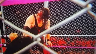 #RAW WWE KANE RETURNS 2017 #RAW 10/16/17 KANE Roman Reigns Steel Cage