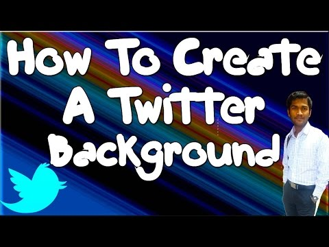 How To Create A Twitter® Background