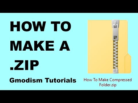 ✅ How to make a .ZIP file - 2018 (Windows 10/8.1/8/7)