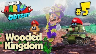 SECRET FLOWER FIELD IN THE WOODED KINGDOM!!! Super Mario Odyssey #5