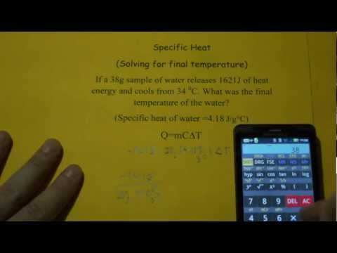 Specific Heat (Solving for Final Temperature)